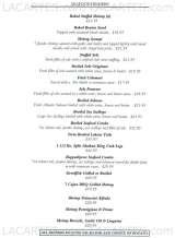 Pricelists of Sweet Basil Restaurant - New York