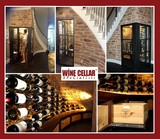 Elegant Coppel Dallas Wine Cellar Under a Staircase
