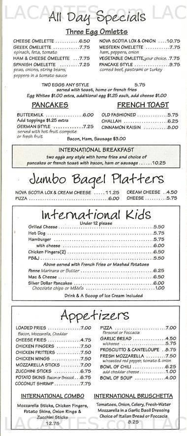 International Delight  Cafe - NY Rockville Centre Price Lists Page 4 of 7 