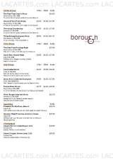 Pricelists of Borough Bar