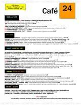 Pricelists of Cafe 24