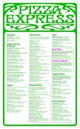 Menus Prices 4 Pages Pizzaexpress Pinner Authentic