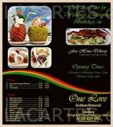 Pricelists of One Love Caribbean Restaurant