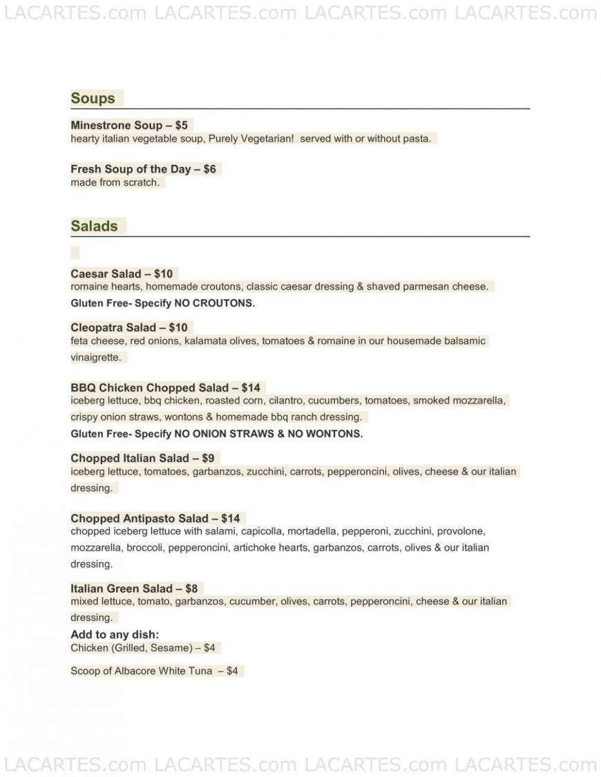 25 Of 35 Price Lists Menus Maria S Italian Kitchen Brentwood Lunch Dinner