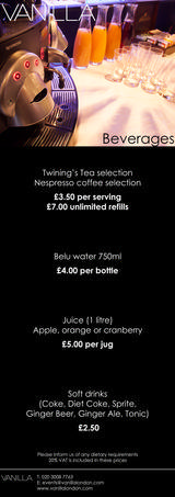 Pricelists of Vanilla London