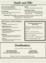 Pricelists of Hudson's Ribs & Fish - NY