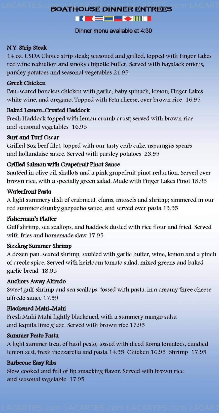 Pricelists of The Crow's Nest Restaurant - NY 415 Boodys Hill Road - Photo 3 of 3