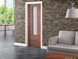 Modern Internal Walnut Glazed Door (Portici)