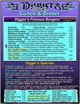 Pricelists of Diggers Diner-Concord