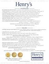 Pricelists of Henry's Restaurant - FL