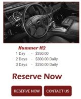 Pricelists of Exotic Rides of Miami