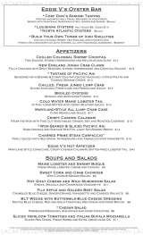 Menus & Prices, Eddie V's Prime Seafood, Steak & Rhythm Restaurants Fort Worth, Fort Worth