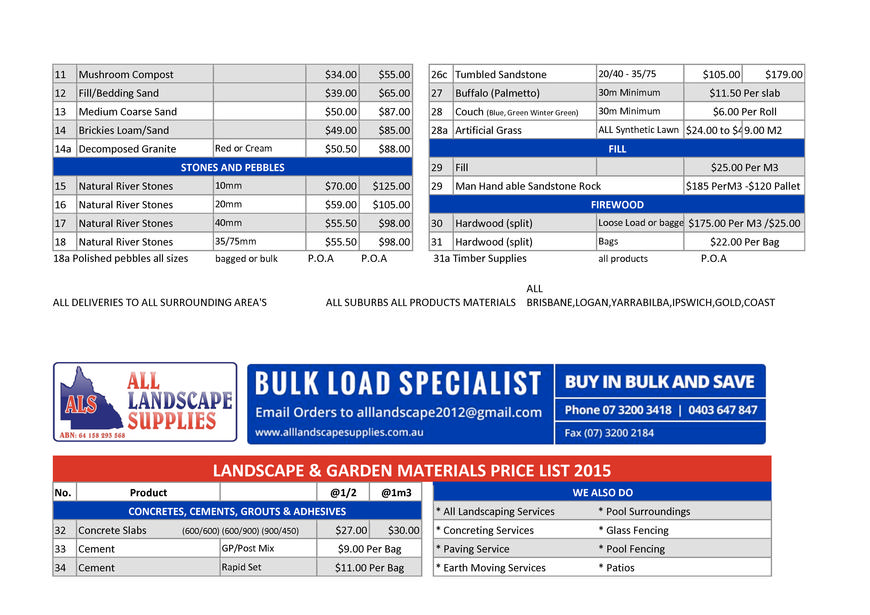 Pricelists of All Landscape Supplies 85 Waterford Tamborine Road - Photo 5 of 6