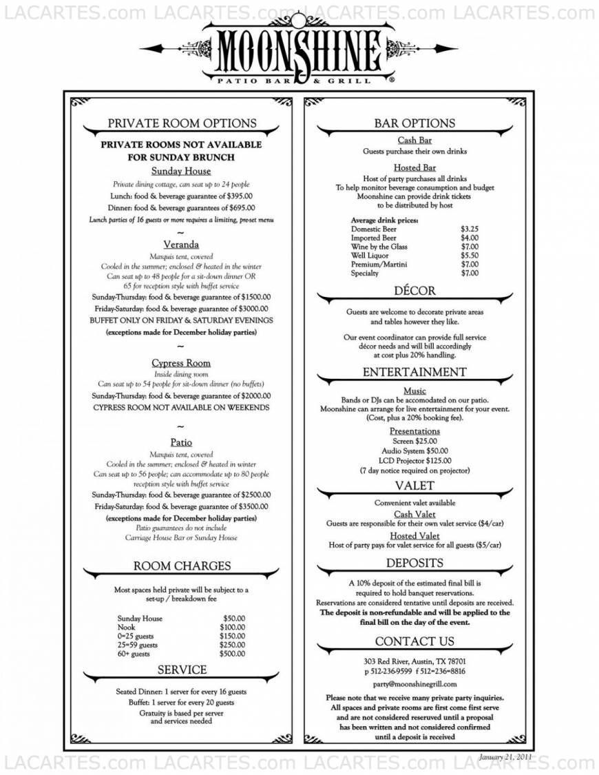 5 of 11 Price Lists & Menus – Moonshine Restaurant Patio Bar & Grill ...