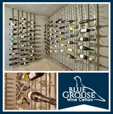 Floor-to-Ceiling VintageView Wall Mounted Wine Racking System