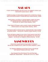 Pricelists of The Stage Restaurant - FL