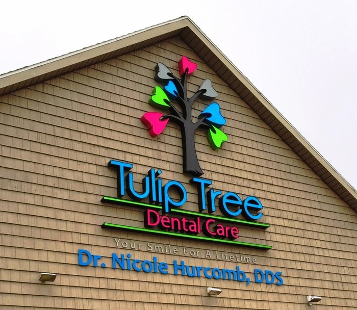 Signage on the building at South Bend dentist Tulip Tree Dental Care Tulip Tree Dental Care of Tulip Tree Dental Care 51584 Indiana State Route 933 - Photo 8 of 12