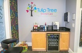 Refreshment area at South Bend dentist Tulip Tree Dental Care Tulip Tree Dental Care 51584 Indiana State Route 933