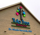 Signage on the building at South Bend dentist Tulip Tree Dental Care Tulip Tree Dental Care 51584 Indiana State Route 933