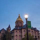 University of Notre Dame 7 minutes drive to the south of South Bend dentist Tulip Tree Dental Care