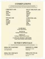 Pricelists of Tokyo Bay Japanese Steakhouse & Sushi - FL