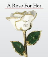 Real Rose Preserved and Trimmed in 24k Gold with Names and wedding or anniversary date imprinted on the petal