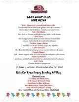 Pricelists of Baby Acapulco Far North