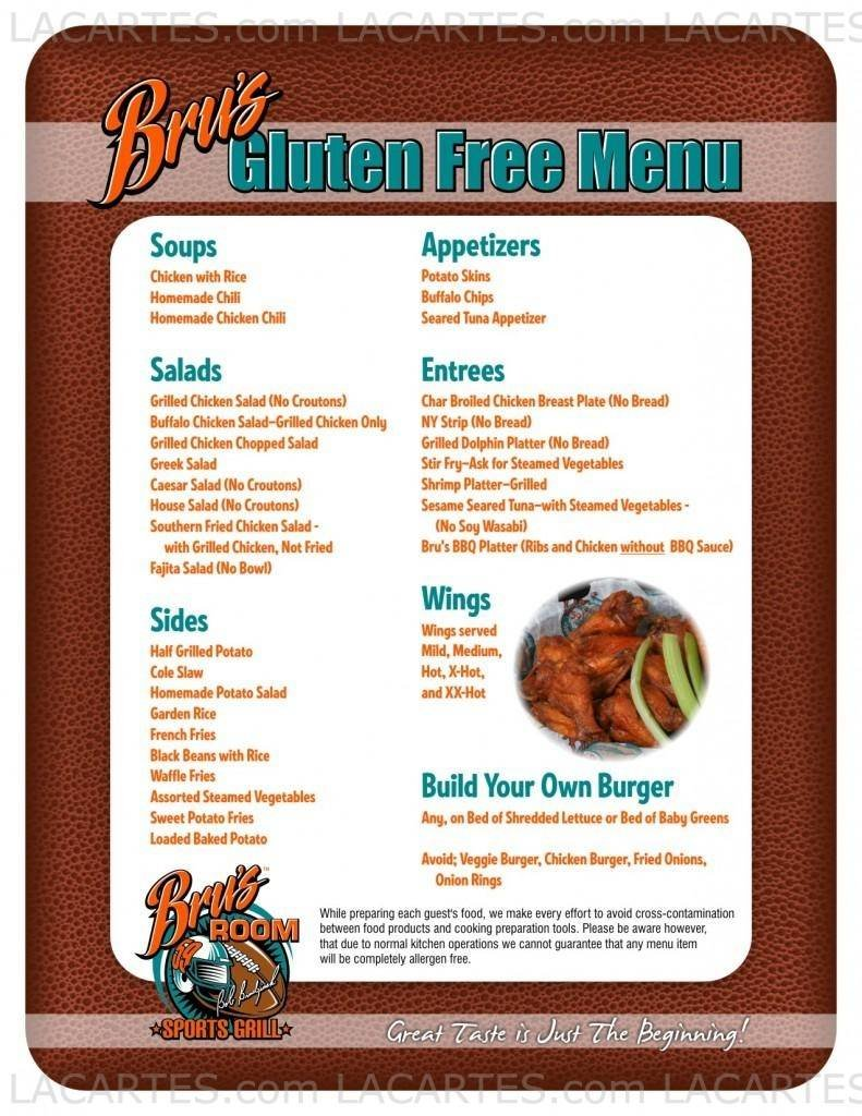 1 of 3 Price Lists & Menus – Bru\'s Room Sports Grill - Delray Beach ...