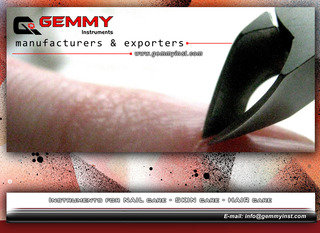 Gemmy Instruments-Nail Nipper, Professional Nail Nipper, Heavy Duty Nail Cutter, Side Cutter, Barrel Spring Nail Cutter