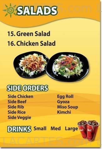 California Teriyaki Grill Lynwood Price Lists Page 4 of 5