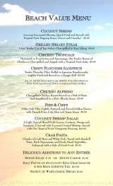 Pricelists of Beach House Restaurant - FL