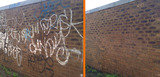 Graffiti removal from Brick