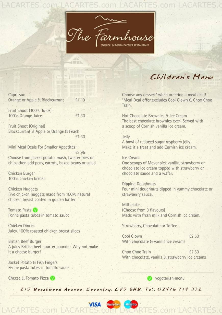 7 Of 7 Price Lists Menus The Farmhouse English
