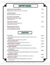Pricelists of I and J Fountain Restaurant