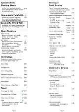 Menus & Prices, The Apple Pie Cafe & Bakery/Rooms at the Apple Pie, Cumbria