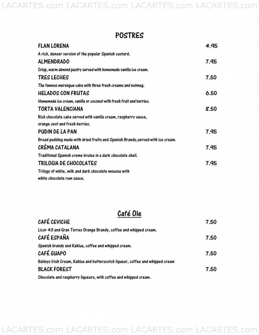 Pricelists of Ceviche Tapas Bar & Restaurant - St. Petersburg, FL 10 Beach Drive - Photo 10 of 14