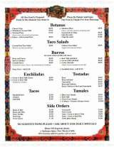 Pricelists of Los Dos Molinos