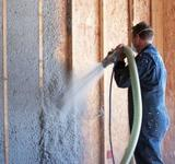 Cellulose insulation applied to interior walls
