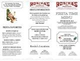Pricelists of Rositas Fine Mexican Food