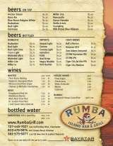 Pricelists of Rumba Island Bar & Grill - Clearwater, FL
