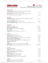 Pricelists of Chino Latino Bar & Restaurant London