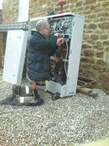 Wiring for air source heating, & new installation to barn conversion .