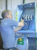 Wiring for 200amp 3phase mains switched fuse isolator to a factory in Banbury.