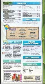 Pricelists of Caribbean Jack's Restaurant and Bar - FL