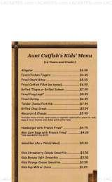 Pricelists of Aunt Catfish's on the River - FL