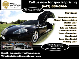 Limo On The Way - Safe Transportation in Guelph