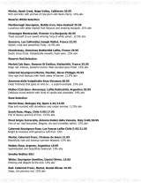 Pricelists of The Royal Saracens Head