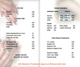 Pricelists of Be Beautiful   Nail Extensions in Bristol