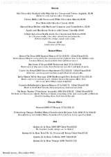 Pricelists of The Seafood Restaurant