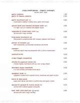 Pricelists of Simply Red Restaurant & Bar